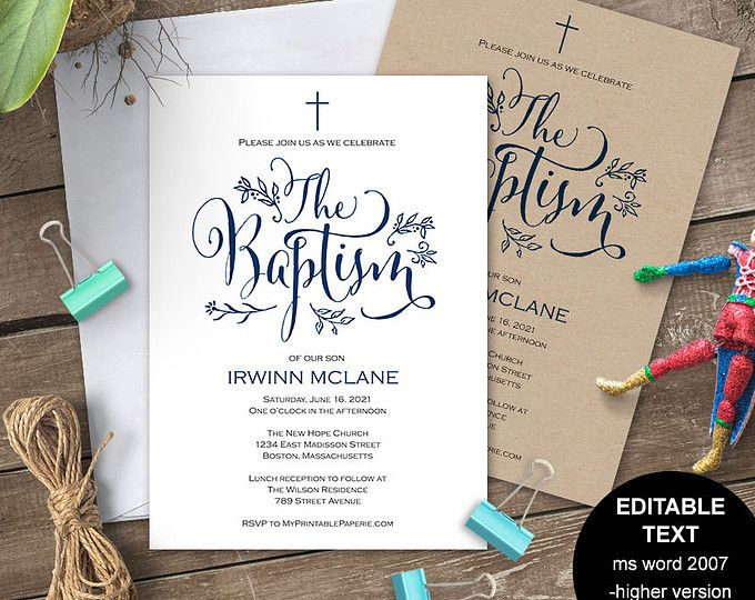 37 best Baptism Invitations images on Pinterest Christening - naming ceremony invitation