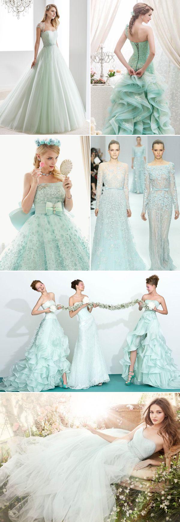 30 oh so romantic pastel wedding dresses pastel wedding for Pastel colored wedding dresses