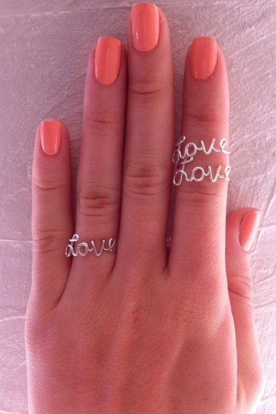 sweet little 'love' ring