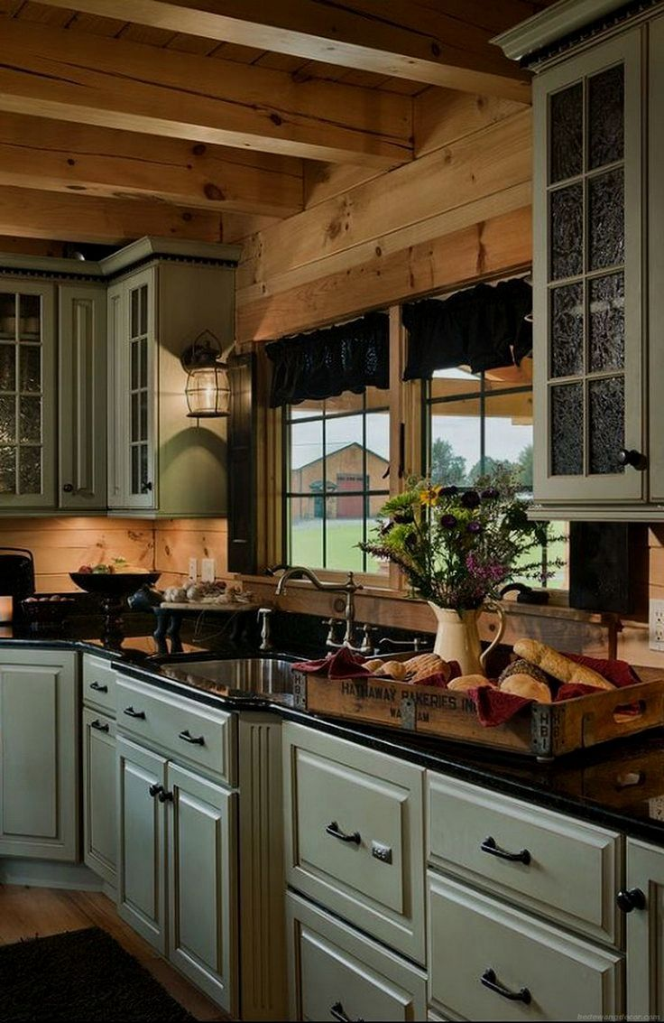 pics of kitchen cabinet design karachi and tuscan decor kitchen rh pinterest com au Old Log Cabin Kitchens Small Cabin Kitchen Cabinets