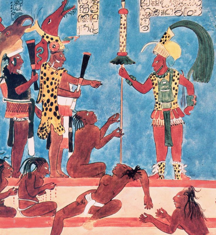 Mayan wall painting at bonampak horace butler when rock for Bonampak mural painting