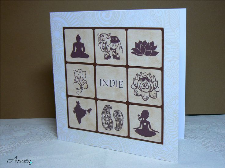 INDIE - Inchies paper card. My first inchies.