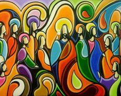 Pintura A Mão Santa Ceia 60x80 Cod 611