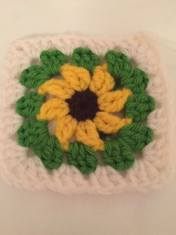30 Granny squares  Sunflower Beautiful 4.5 X 4.5 Inches  | eBay