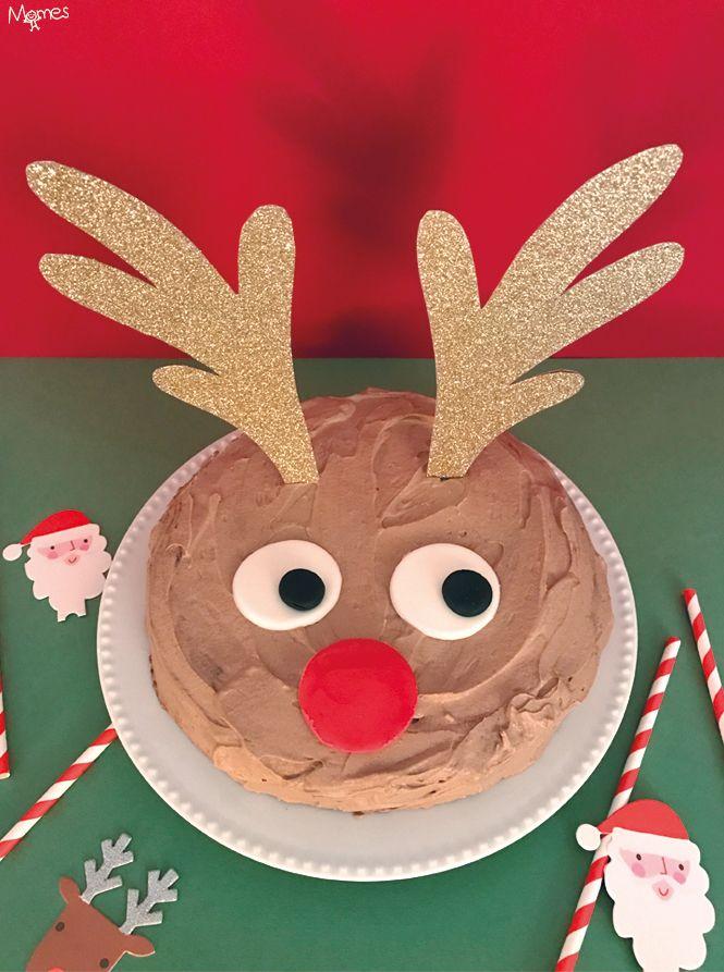 Que serait Noël sans le célèbre renne Rudolph qui conduit vaillamment le traineau du Père Noël ?!Voilà un gâteau rigolo qui plaira aux petits comme aux grands lutins, pour rendre hommage au gentil compagnon du vieux Bonhomme rouge ! Ho Ho Ho !