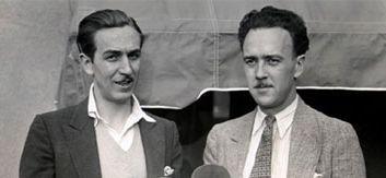 Walt DWalt Disney and Ub Iwerks in early career.