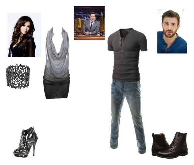 """""""Chris and Quinn on The Tonight Show with Jimmy Fallon"""" by hobbits-and-elves ❤ liked on Polyvore featuring HADES, Doublju and Frye"""