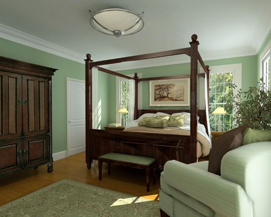 Master Bedroom - Love The Mint Green!