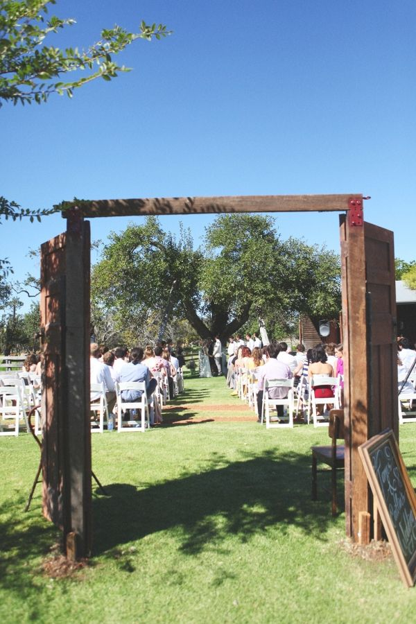 It would be so cool to get a set of doors like this set up for an outdoor wedding to define the area of the ceremony