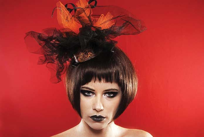 Wicked by Ipek Yaylacioglu Occasion millinery hats & hair accessory - Volcano hat