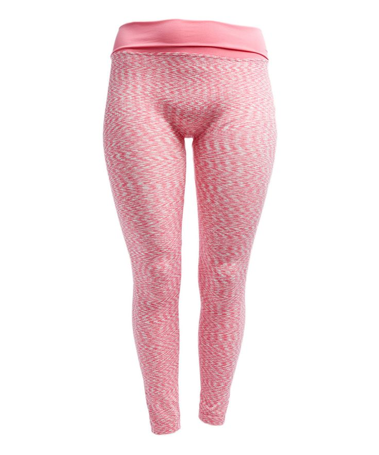 Take a look at this Pink Seamless Leggings - Plus today!