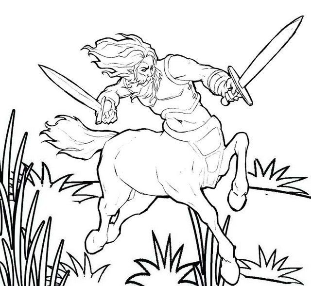 Centaur Holding Swords Coloring Pages Coloring Pages Coloring Pictures Printable Coloring Pages