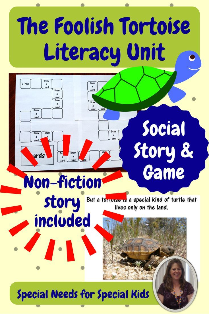 Developed for students with autism and special learning needs, this 70+ page unit goes with Eric Carle's The Foolish Tortoise.  There are several activities that go with the story, a non-fiction story and activity on tortoises, and a social skills unit on