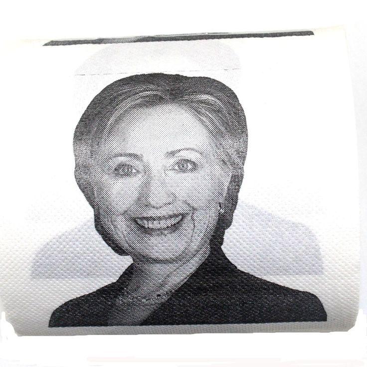 Hillary Clinton Toilet Paper Novelty Political Gag Gift (1) 1