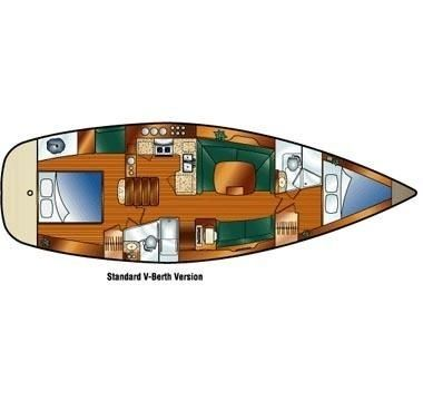 For any of you wondering what the inside of a sailboat that someone lives on looks like.  Where's the engine room? Where's the work deck?