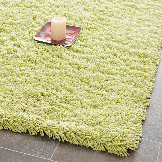 Safavieh Hand-woven Bliss Lime Green Shag Rug (8'6 x 11'6) - Overstock™ Shopping - Great Deals on Safavieh 7x9 - 10x14 Rugs