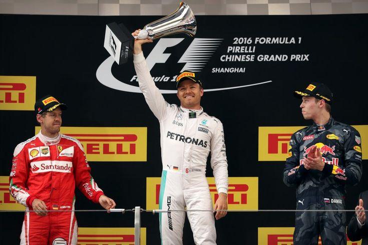F1 GP Cina. Ennesima vittoria di Rosberg, disastro Ferrari alla partenza