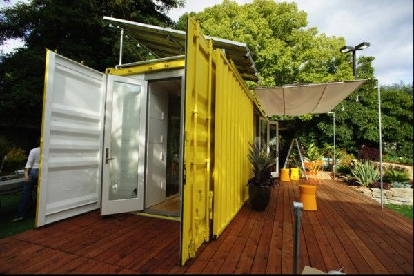 Ah, the container house... This product from HyBrid Architecture is like the trendy double-wide trailer home. Shipped to you with all the amenities including options for solar panels and built 15% above codes. I am curious who bites at it though.