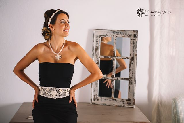 Cintos para vestidos de novias/Bridal gowns belts Arantza Rivas wedding design/ Diseño para novias Arantza Rivas David Luque Fotografía Modelo: Belinda Gutierrez Tobe Foto realizada en Alhaurín Golf Hotel & Resort
