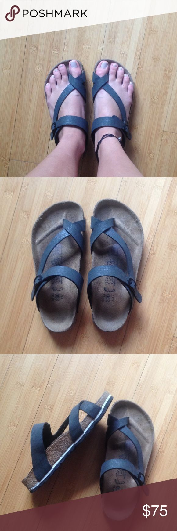 Birki's by Birkenstock sandals Black. Size:36 35, 230, L5. Only worn about 5 times Birkenstock Shoes Sandals