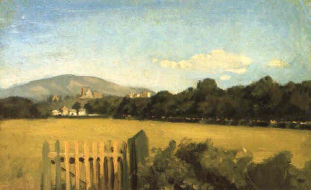Sernesi, Raffaello, (1838-1866), Pratone alle Cascine, 1860, Oil