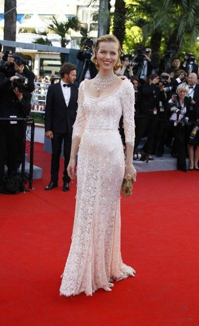 "Cannes Film Festival 2012: Pictures that are worth millions .  Model Eva Herzigova attends opening ceremony and ""Moonrise Kingdom"" premiere wearing a Dolce & Gabbana gown during the 65th Annual Cannes Film Festival at Palais des Festivals on May 16, 2012, in #Cannes."