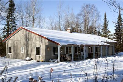 Pole barn house-exterior