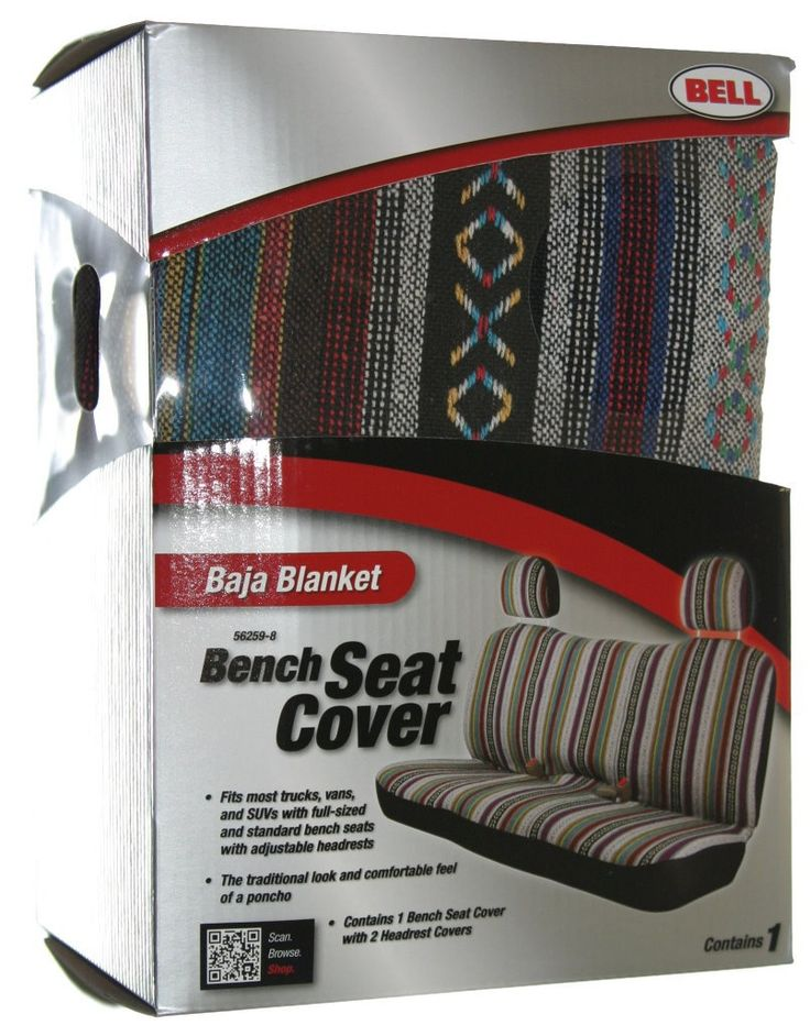 Baja Mexican Blanket Bench Style Back Car Seat Cover Stripe