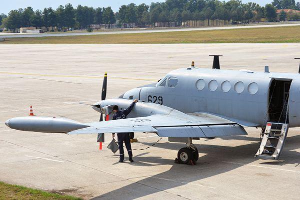 Ισραηλινό αεροσκάφος Beechcraft King Air B-200 (μέσω iaf.org.il)   An israeli Beechcraft King Air B-200 aircraft (via iaf.org.il).
