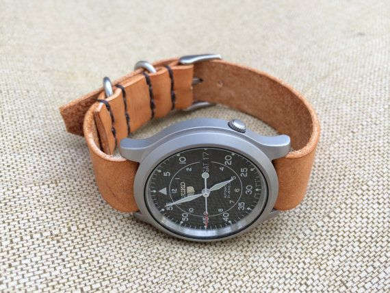Seiko Watch Bands and Box  w/Handmade Leather Nato by MotorStreet, $90.00