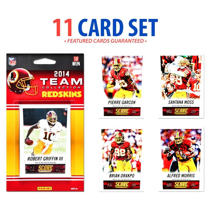 Washington Redskins 2014 Score Team Set of 11 Cards - $3.99