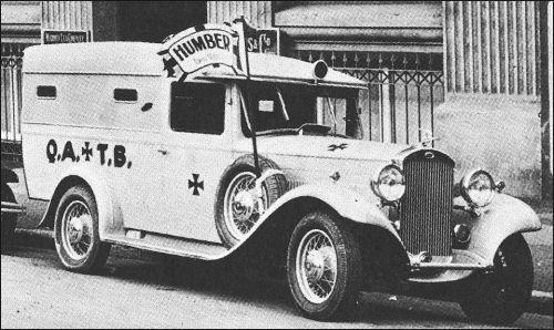 Q.A.T.B. Ambulance. Humber 1933.