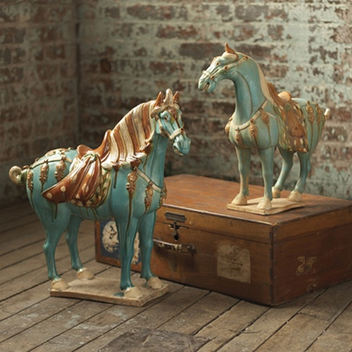 InStyle-Decor.com Beverly Hills Horse Lovers Chinese Tang Dynasty Artifact Ceramic Horses Luxury Trending Hollywood Home Decor Enjoy & Happy Pinning