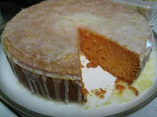 Orange Tequila Cake I am sold on any dessert that has booze in it.