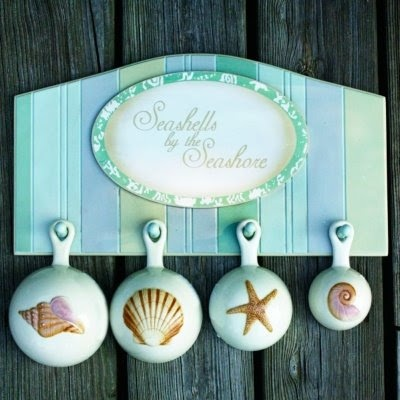 Seashell measuring spoons