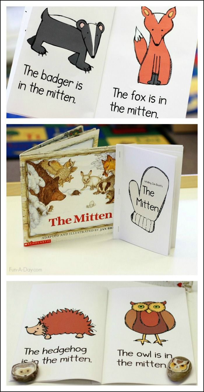 Free Printable Emergent Reader Based On Jan Brett's The Mitten Great For  Working On Early