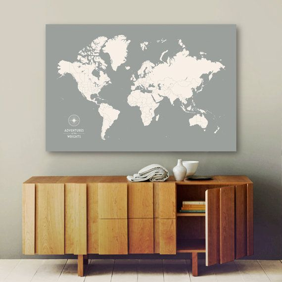 33 best push pin world maps images on pinterest travel cards personalized push pin map large canvas map by canvastravelmaps gumiabroncs Image collections