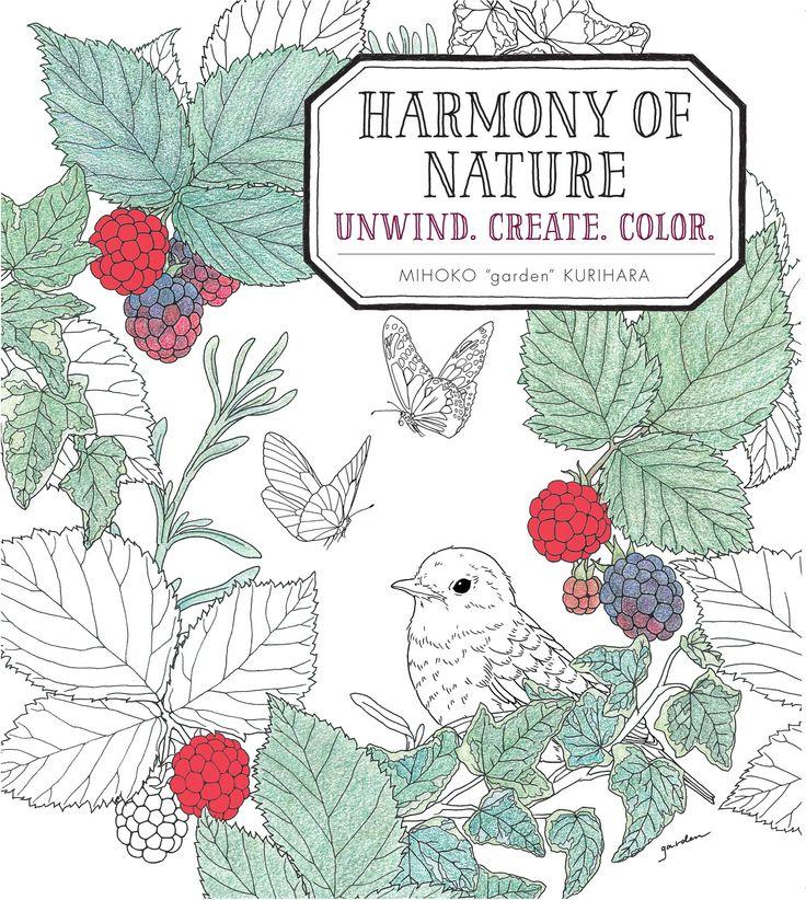 Unique Create Coloring Book 37 Harmony of Nature Unwind