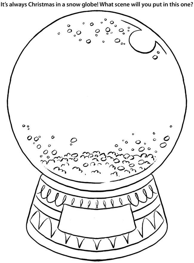 fox snow globe coloring pages - photo#2