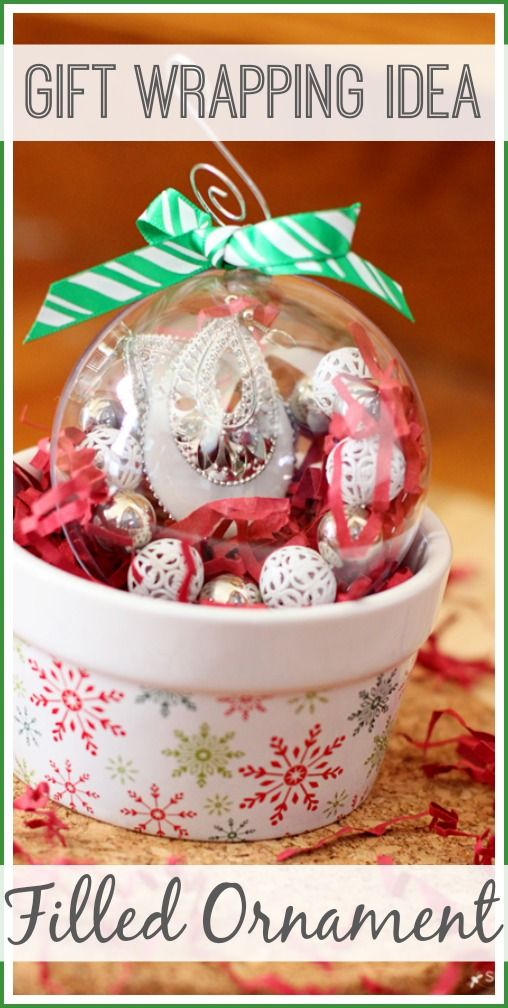 Gift Wrapping Idea: Filled Ornament - Sugar Bee Crafts
