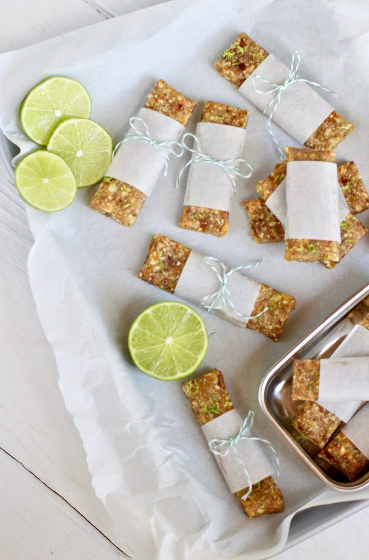 Key Lime Pie Energy Bars | The Real Food Dietitians | http://therealfoodrds.com/key-lime-pie-energy-bars/