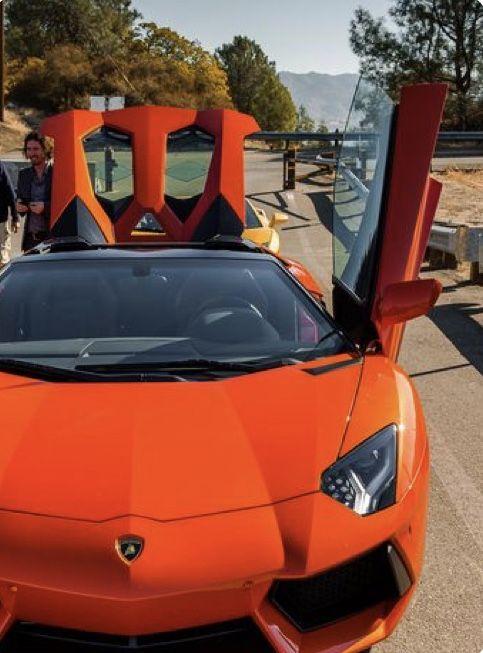 Orange Lamborghini With Images Super Luxury Cars Lamborghini Aventador Lamborghini Aventador Roadster