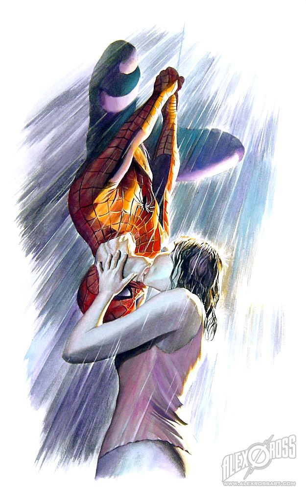 """Spiderman & Mary Jane """"that's our kiss!"""" (MJ, Spiderman 3)"""