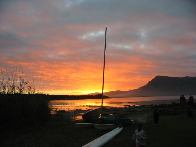 Amazing sunset at Wortelgat near Hermanus in the Western Cape