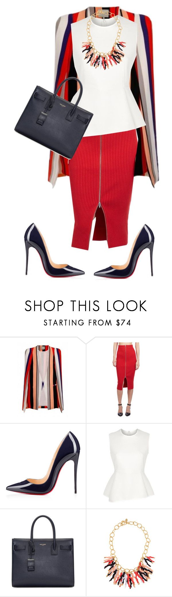 """World Youth Day!!!!"" by cogic-fashion ❤ liked on Polyvore featuring Lavish Alice, T By Alexander Wang, Christian Louboutin, Alexander Wang, Yves Saint Laurent and Kara Ross"