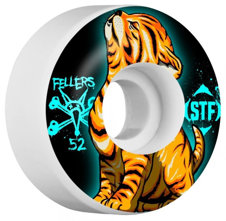 #Bones Wheels Bones STF Fellers Roar V3 Skateboard Wheels - 52mm #Unleash your wild side with the Fellers Roar V3 Skateboard Wheels from Bones! Featuring an animalistic aesthetic throughout, youll have no issues displaying these wild wheels with pride! Sink your teeth into a set today and make skating your prey!Dimensions:Diameter: 52mmWidth: 29mmMaterials:Durometer: 83b / 103a Polyurethane(Sold as a pack of 4 - Bearings sold separately.)