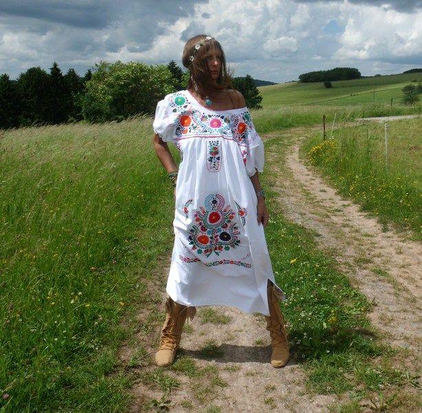 L hippy tunica ricamo messicano ♥ FAIRY WHISPERS♥ di NEWMEXICAN su DaWanda.com