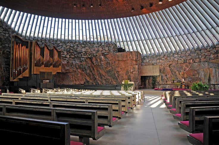 In fact, it's full of stunning architecture. | 56 Reasons You Should Move To Finland Immediately (Temppeliaukion kirkko, Helsinki)