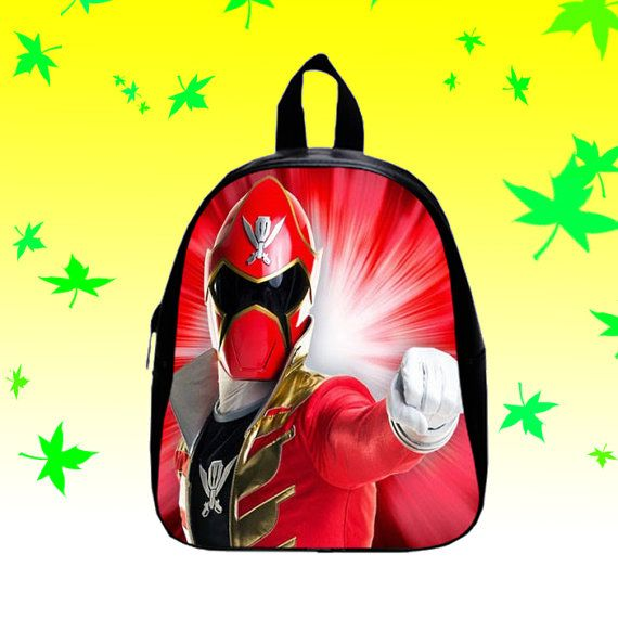 Red Power Rangers Super Mega Force   by FACIALBAG on Etsy