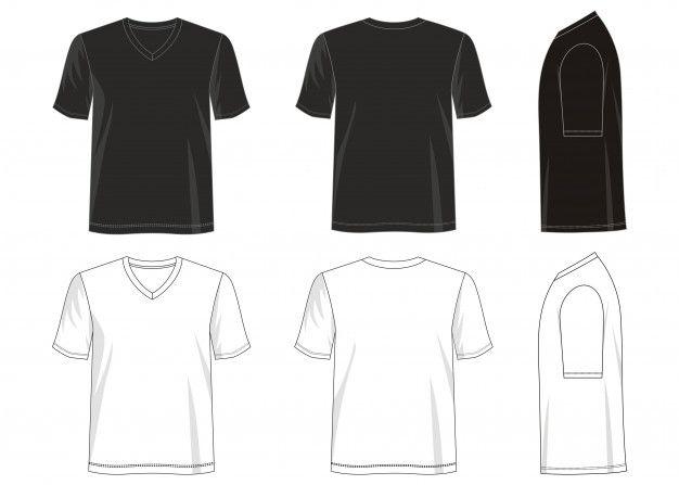 Download T Shirt V Neck Template Premium Vector Premium Vector Freepik Vector Mockup Design Fashion Sport In 2021 T Shirt Design Template Tshirt Designs Shirt Designs